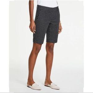 Ann Taylor Curvy Black Polka Dot Bermuda Shorts 12
